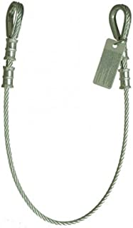 Guardian Fall Protection 10440 3-Foot Vinyl Coated Galvanized Cable Choker Anchor with Thimble Ends