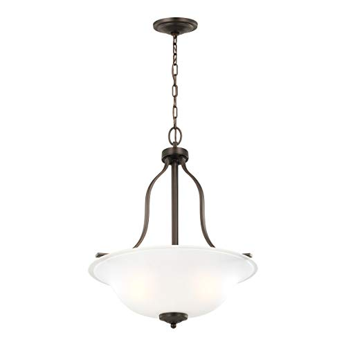 Sea Gull Lighting 6639003-710 Emmons Three - Light Pendant Hanging Modern Fixture, Bronze