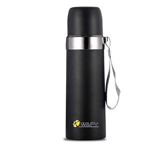 ZYLLL Thermobecher Doppelwandige Isolierflaschen aus Edelstahl Kaffee Tee Milch Reisebecher Thermoflasche Thermocup Schwarz 2 350ml