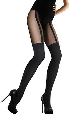 Marilyn blickdichte Strumpfhose, 60 Denier, Größe 40/42 (M/L), Farbe Schwarz (nero)
