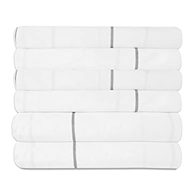 Sweet Home Collection 6 Piece 1500 Thread Count Deep Pocket Bed Sheet Set - 1 Extra Pillow Case, Great Value, Window Pane White, King