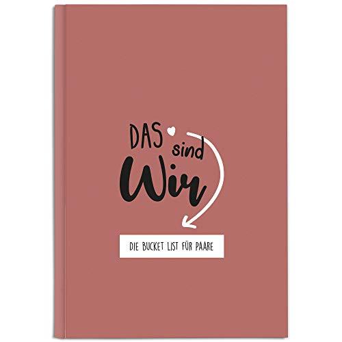 CUPCAKES & KISSES® Bucket List Buch für Paare I Valentinstag Geschenk für Sie & Ihn I Geschenke für Paare und Partner I Geschenk für Jahrestag