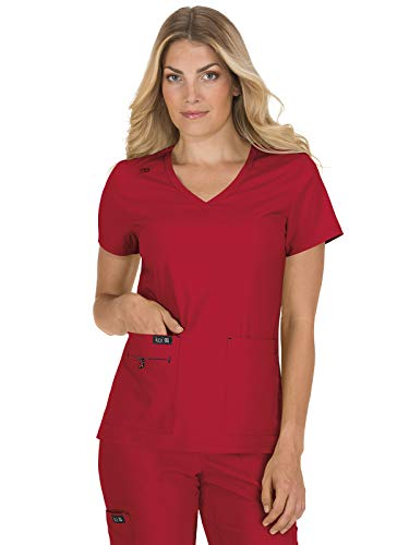 KOI Basics 373 Women's Becca Scrub Top Ruby S