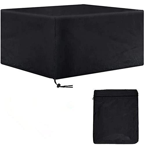 Al Aire Libre Cubiertas para Muebles de Patio Rectangular de Tela Oxford Anti-UV A Prueba de Viento Cubiertas de Mesa de Jardín para Mesa al Aire Libre Sillas Patio,325x208x58cm