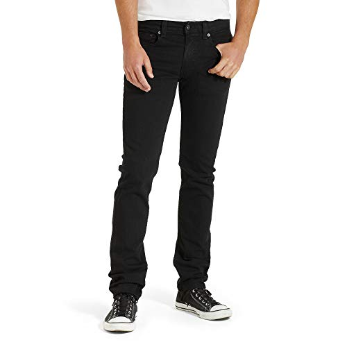 Levis Mens 511 Slim Fit Jean, Black - Stretch, 40W x 32L