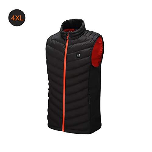Chaleco antibalas, con calefacción, ajustable, calentador de cuerpo, temperatura de carga USB, calentamiento chaqueta unisex, chaleco aislante contra el calor acampar al aire libre, ciclismo, (L-5XL)