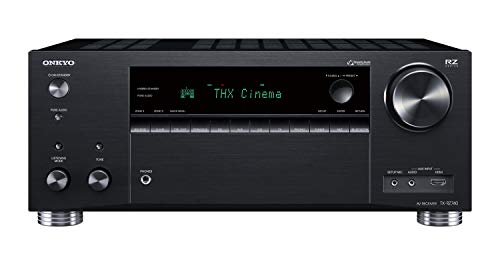 Onkyo TX-RZ740(B) 9.2 Kanal AV Receiver (THX Cinema Sound, 185 Watt/Kanal, Multiroom, Dolby/DTS: X, Wlan, Bluetooth, Streaming, AirPlay2, Musik App, Spotify, Tidal, Deezer, Internet Radio) Schwarz
