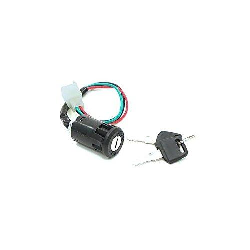 Interruptor de arranque universal, 4 cables, con 2llaves, ideal para la mayoría de motocicletas; desde clásicas hasta Pit Bikes, Quads, Dirt Bikes, Scooters y más