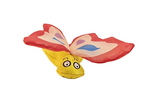 Duckyworld Yeoww Butterfly Red Katzenspielzeug mit Katzenminze, 200 g