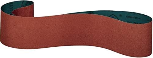 Klingspor CS 912 Y - Bandas de lija de cerámica, 100 x 1220, 30 unidades, grano/grano: 80 (15 cintas)