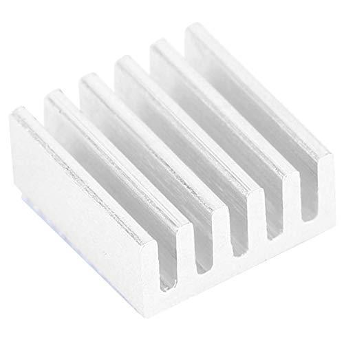 LANTRO JS - 100st aluminium kylfläns 9x4x9mm (0,4x0,2x0,4in) kylfläns kylare med värmeledande lim för PCB-förstärkarkort MOS-transistor
