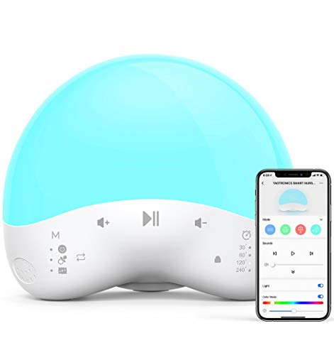 White Noise Machine with Night Light, TaoTronics Sound Machine for Baby Sleeping, 25 Soothing Sounds...