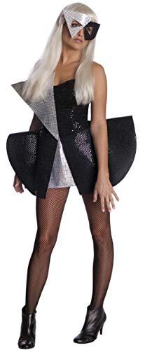 Rubies 3 889976 xs - Lady Gaga Black Sequin Dress F Größe XS
