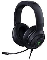 Razer Kraken X USB - Gaming Headset: Digitales Surround Sound Gaming-Headphones (7.1 Surround Sound, Flexibles Kardioid-Mikrofon, Ultra leicht) schwarz