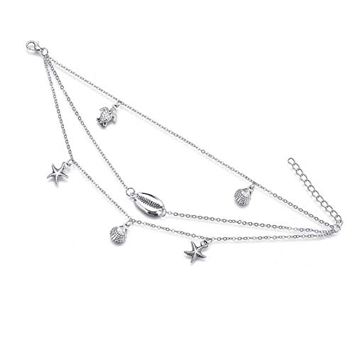 xiamenchangketongmaoyi Anklet Foot Jewelry Multilayer Anklet Charm Anklet Scallop Anklet Barefoot Anklet Sandal Anklet Bohemian Shell Anklet Simple Shell Anklet