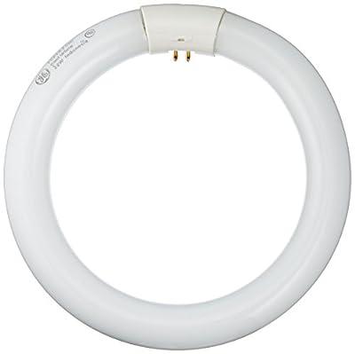 GE Lighting 11084 22-watt Kitchen and Bath Circline 1400-Lumen T9 Circline Light Bulb with 4-Pin Base, Warm White, 6-Pack