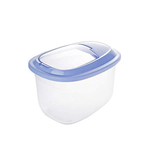 ZDW Reeamy-Kitchen Supplies Reislagerung Großer Lebensmittelvorratsbehälter Trockenfutter Mehl Reisspender Tiernahrung Hundefutterbehälter mit Deckel Bpa-freier Reisbehälter Reisaufbewahrungsboxen Le