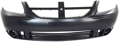 Front Bumper Cover Compatible with 2005-2007 Dodge Grand Caravan Caravan Primed with Fog Light Holes (=CARAVAN SXT Model) 2005 Dodge Grand Caravan Sxt