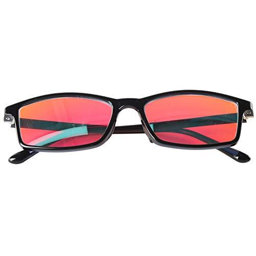 Lunettes de correction pour daltoniens, à la mode Hommes Femmes Lunettes pour aveugles rouge-vert avec étui à...