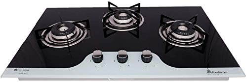 Pureflames HOB LTS 70AL 3B 3 Burner Black Glass Automatic (3 Burner, LTS 70AL 3B,Glass Type : 8 MM Thick Toughened Glass Top,Ignition Type: Automatic Multi Spark Battery)