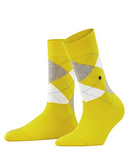 Burlington Damen Queen Socken, Blickdicht, gelb (Sunlight 1141), 36-41