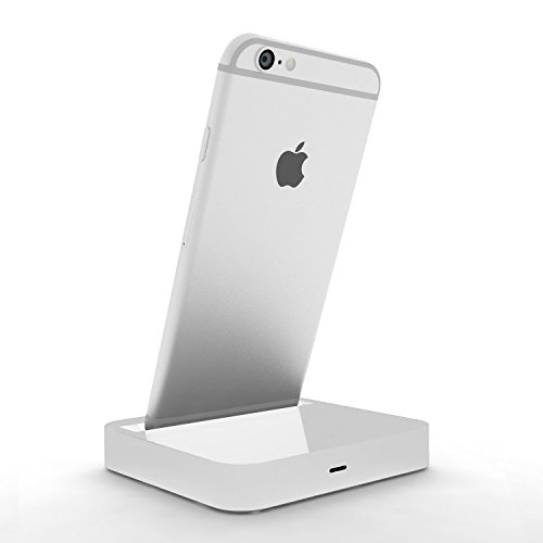 Coverlounge - Lightning Dockingstation/Dock/Ladestation [2.1 A] kompatibel mit Apple iPhone XS/X/XR/8/8-Plus/7/7-Plus/6s/6s-Plus/6/5/SE mit Lightning Anschluss   Farbe: weiß