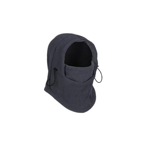 Men's and Women's Thermal Fleece Balaclava Hat Hood Ski Bicycle Motorcycle Racing Face Mask Neck Helmet Cap (Grey)