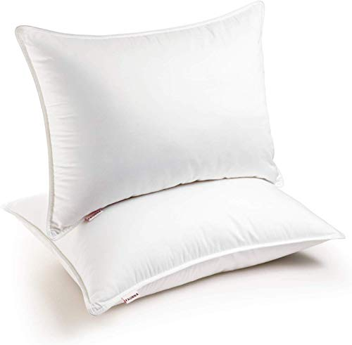 FAUNNA, Lux Pillows for Sleeping (2-Pack) (Queen) - Gel-Fiber Down Alternative