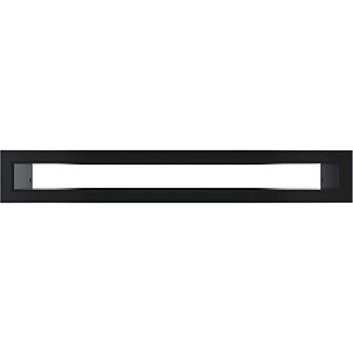 Kratki.pl TUNEL - Rejilla de ventilación (60 x 400 mm), color negro