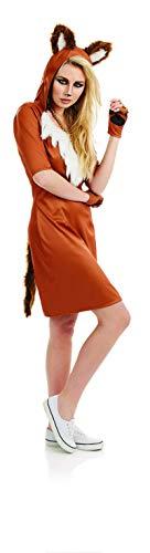 Fun Shack Braunes Fuchs Kostüm für Damen - Mittel