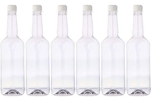 Concession Express Long Neck 32oz Quart Bottles with Flip-Top Caps