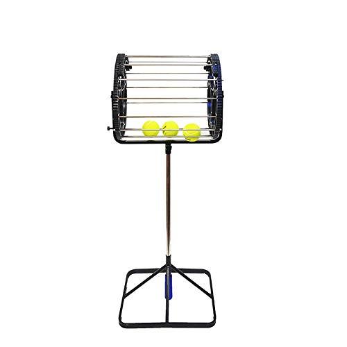 Raccoglitore automatico di palline da tennis Rastrelliera multi-palla Forniture da tennis Club sportivo all'aperto Strumento di raccolta della pallina nera Cesto di raccolta automatico della pallina
