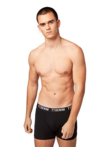 TOM TAILOR DENIM Herren Nightwear Boxershorts im 3er-Pack  Black,XL