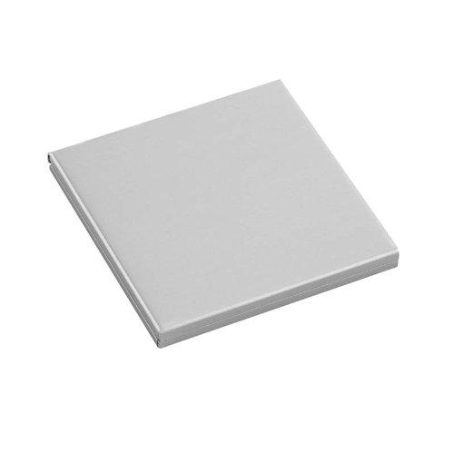 Miroir de poche, compact, double, carré, en aluminium