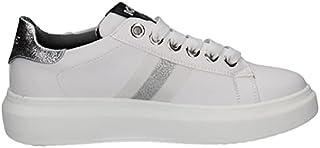 Keys Scarpe Donna Sneakers in Pelle Bianca e Argento 2203-WHITE