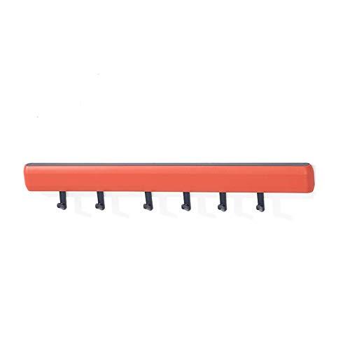 JIA Xing Kleiderständer, Haushalt Reihe Haken Haken Kreativecke stark klebender Corner-Stick Haken Punch Wand-Aufhänger-Haken-Mantel-Rack (2 Farben) garderobenständer (Color : Red)