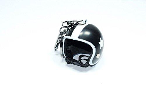 Familienkalender offener Helm ohne Visier Schlüsselanhänger mit Stern | Moped | Geschenk für Männer | Sturzhelm | Motorradhelm | Schutzhelm in schwarz