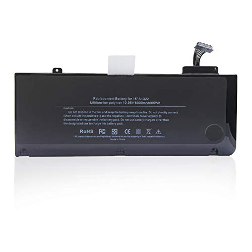 Oyomba A1322 A1278 Battery for Apple MacBook Pro 13'' inch [Mid 2012 2010 2009 Early 2011 Late 2011 Version] MB990LL/A MC700LL/A MD313LL/A Replacement batteries[6000mAh/65Wh]