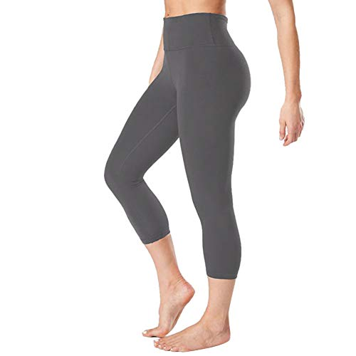 Gayhay High Waisted Capri Leggings for Women - Soft Slim Tummy Control - Exercise Pants for Running Cycling Yoga Workout