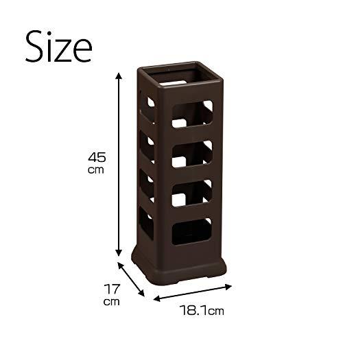 小原産業傘立てブラウン約45×18.1×17cm角型約8本収納UB-425