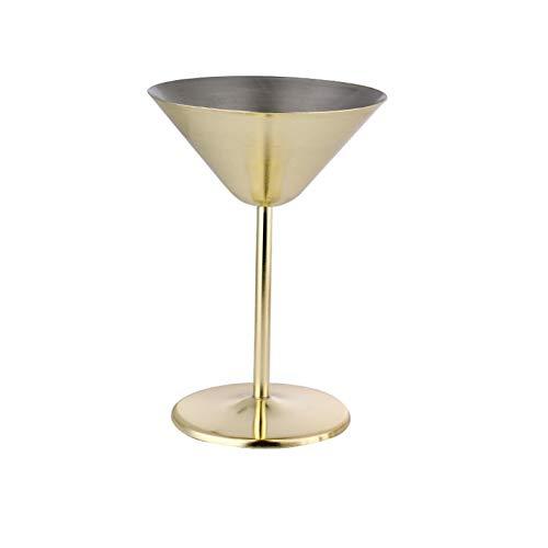 Copas de vino,Taza de cerveza Camping Copa de vino copas de cerveza copa cerveza Copa de acero inoxidable copa de martini herramienta de bar de metal creativa y elegante estable y duradera 240 ml
