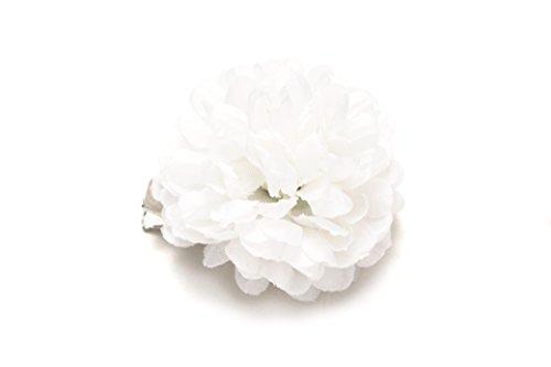 (ソウビエン) 髪飾り プチプラ small カラフル ピンポンマム ピンポン菊 ポンポン菊 花 フラワー クリップ 浴衣 ヘアアクセサリー
