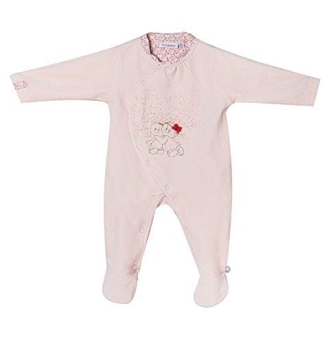 Noukies Daisy & Coco Strampler Pyjama, Rose, 1 Mois Bébé garçon