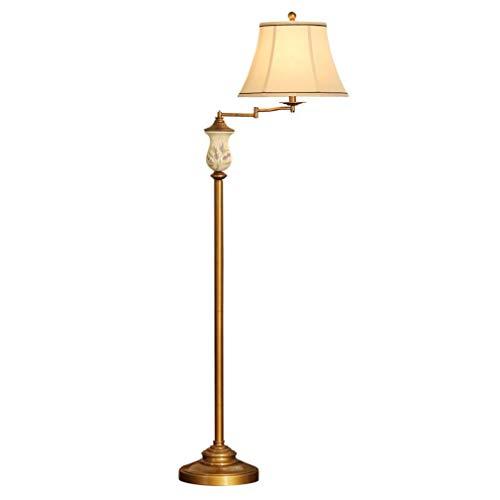 GUOXY Lámpara de Suelo Lámpara de Suelo Rocker Antigua Iluminación Interior Lámpara de Pie Lámpara de Re - Interruptor de Pie