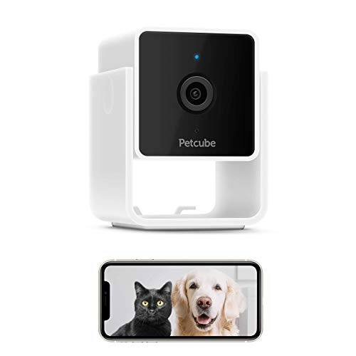 Petcube Cam Pet Monitoring Camera with Built-in Vet Chat for Cats & Dogs, Security Camera with 1080p HD Video, Night Vision, Two-Way Audio, Magnet Mounting for Entire Home Surveillance