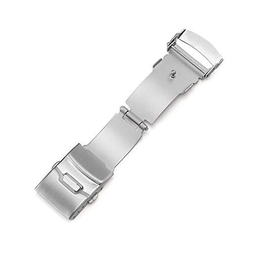 RHBLHQ 16 mm 18 mm 20 mm 22 mm Pulsera de Acero Inoxidable Hebilla Cierre Plegable con botón de Seguridad Correa de Correa de Reloj Reparación de Piezas de reparación