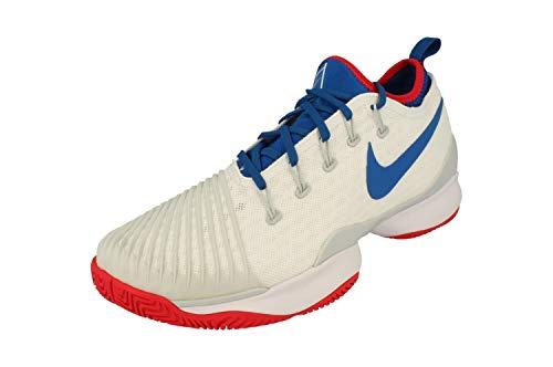 Nike Air Zoom Ultra React HC Hombres Tennis Turnschuhe 859719 Sneakers (UK 7 US 8 EU 41, White Blue Jay Pure Platinum 114)
