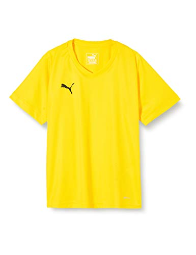 Puma Kinder LIGA Jersey Core Jr T-shirt, Cyber Yellow Black, 140