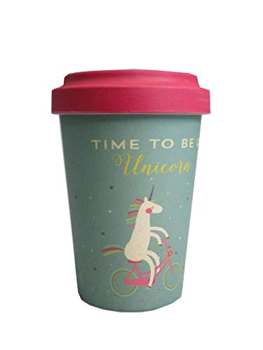 Home Collection Coffee to go Becher Bamboo Bambus Cup Einhorn Time to be a unicvorn 300ml