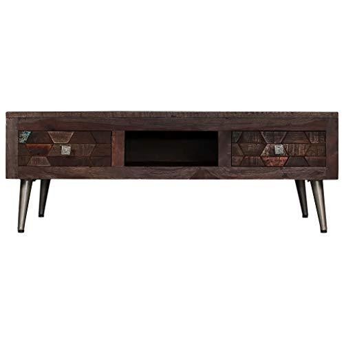 Wakects Mueble de Madera para televisor con cajones, Mueble de Madera Vintage con Mueble de Almacenamiento para Sala de Estar, Mueble de TV con cajones de Madera recuperada